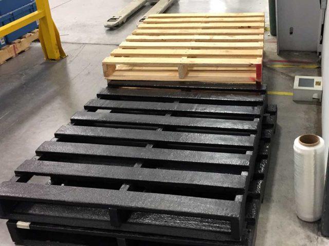 Tarimas industriales: hazlas más resistentes y sólidas con LINE-X