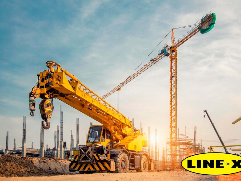LINE-X en grúas industriales